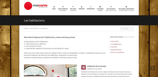 Exemple web Mas Martís